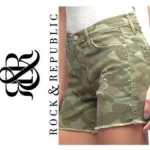 Rock & Republic Camo Hula Shorts
